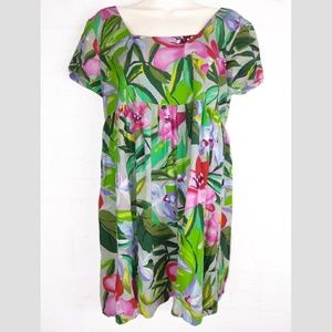 JAMS WORLD Hawaiian Babydoll Tunic Dress M Floral